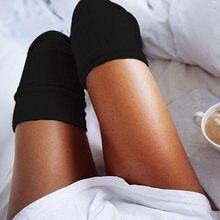 Mulher menina sobre o joelho meias altas primavera outono inverno quente malha macia coxa alta meias longas cor sólida solta meias calcetines
