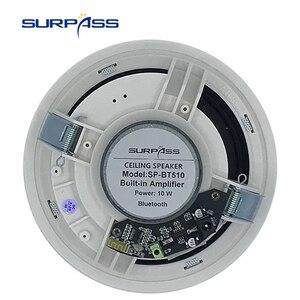 Image 4 - Altavoz de techo con Bluetooth amplificador Digital de clase D, resistente al agua, altavoz de carga activo de 10W y 5 pulgadas para reproducción de música en interiores