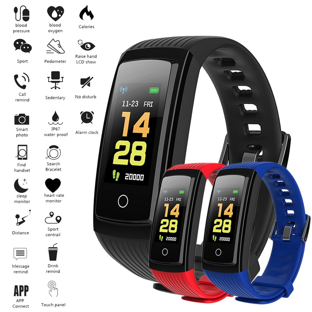 Galleria fotografica Step Count Band Bracelet Step Fitness Watch Clock That Counts Calories Watch Exercise Smart Band Tracker Heart Rate Accessories