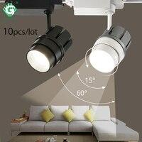 30W COB Track Light Zoomable Track Aluminum Lights 2/3/4 Wire LED Rail Spotlight Lamp System Spot Furniture shop Lighting