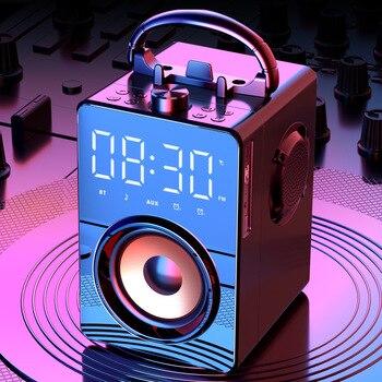 Altavoces portátiles con Bluetooth para estéreo HiFi, Radio FM, sistema de sonido,...
