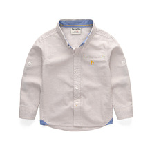 2019 New Casual Striped Boys Shirts Cotton Blouse White School Blouses for Children Kids Clothes Clothing