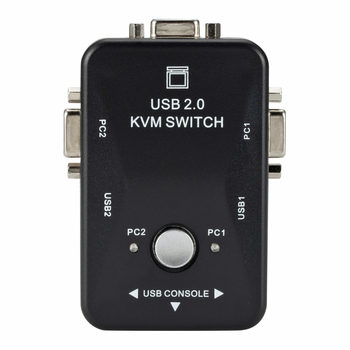 VGA Switch With Two USB Interface For PC Monitor Keyboard Mouse (2 ports) Maximum Compatibility Simultaneous Computer Sharing