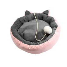 1PC Warm Pet Cat Bed Nest Cat Cute Sleeping Bed With Ball Soft Comfortable Grey Pink Cat Product Mat Warm Pet Cat Bed Nest платье grey cat grey cat mp002xw025uo