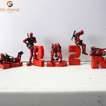 Cute Mini Deadpool Car Small Decoration Creative Interior Doll Marvel Chassis Hand Model