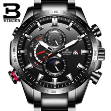 Switzerland Automatic Watch Men BINGER Mechanical Mens