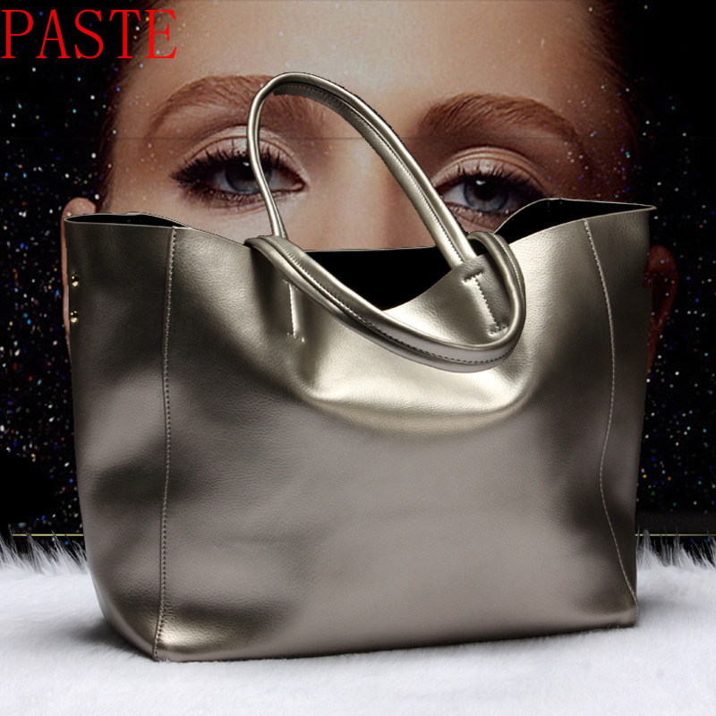 Top Selling Women Handbag Genuine Leather Bucket Casual Bag Ladies Luxury Shoulder Bags Female Eight Candy Colors Messenger Bag