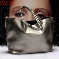 Top verkauf Frauen Handtasche Aus Echtem Leder Eimer Casual Bag Damen Luxus Schulter Taschen Weibliche Acht Candy Farben Umhängetasche