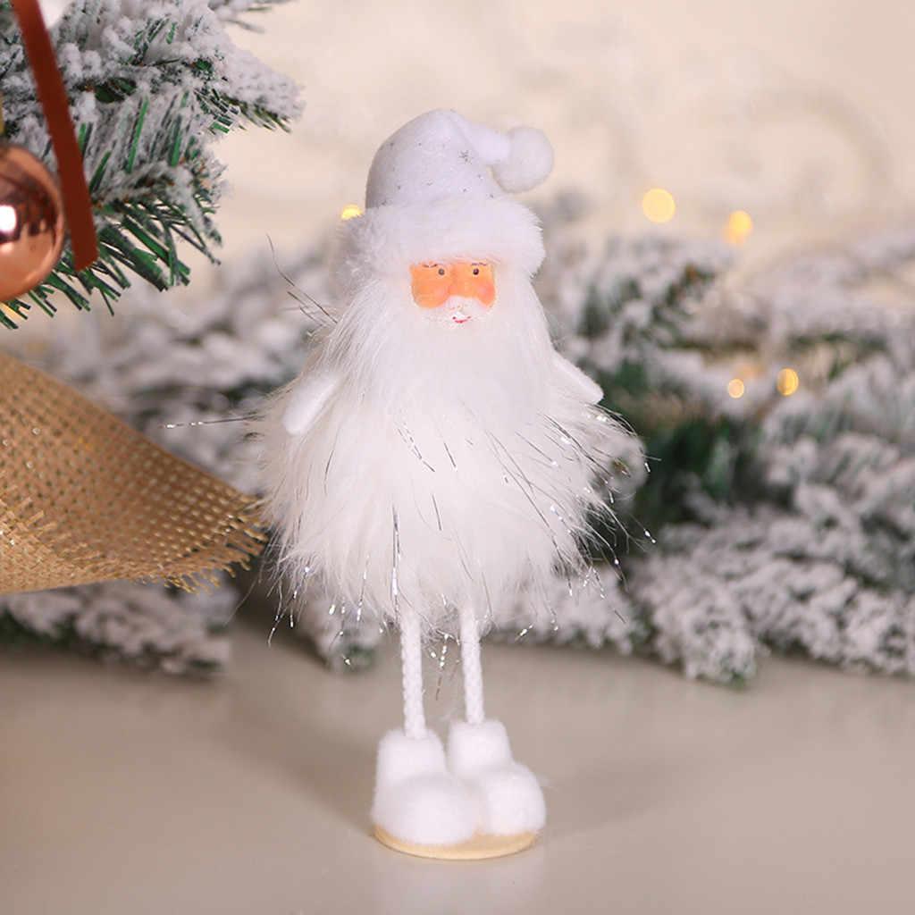 קישוטי חג המולד סנטה קלאוס איש שלג איילי צעצוע בובת לתלות קישוט מתנה לבית סעיף סנטה החג שמח מסיבת 2020