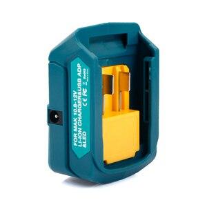 Image 4 - Ulepszony Adapter do Makita ADP06 12V BL106/BL02/BL104/BL03/BL02 USB CXT akumulatorowe źródło zasilania litowo jonowego ze światłem LED