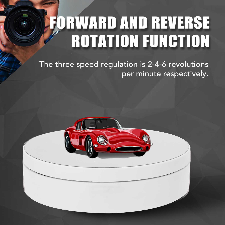 360 תואר פטיפון תצוגת Stand עבור צילום וידאו ירי אבזרי תכשיטי תצוגת פטיפון חשמלי מסתובב פטיפון
