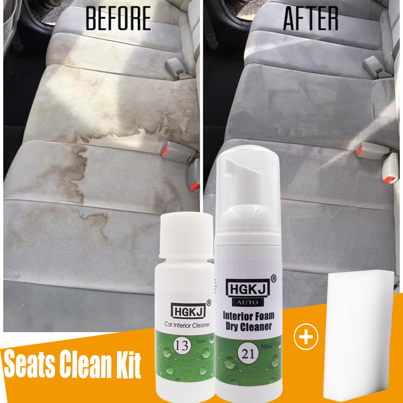 HGKJ Car Seat Interior Cleaner Auto Leather Clean Dressing Cleaner For Fabric Plastic Vinyl Leather Surfaces Car Accessories