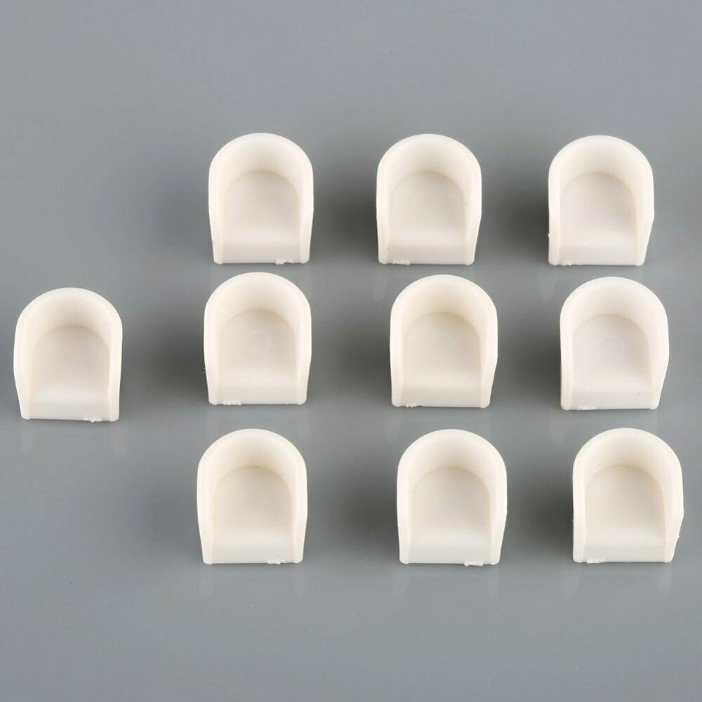 New 10pcs Round Chairs Model Simple Style White 1/50 O Scale Dollhouse Miniature Furniture DIY Kid Toy