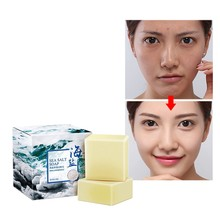 Bath care sea salt hand cleaning soap acne dispelling preventing whitening and moisturizing sheep milk
