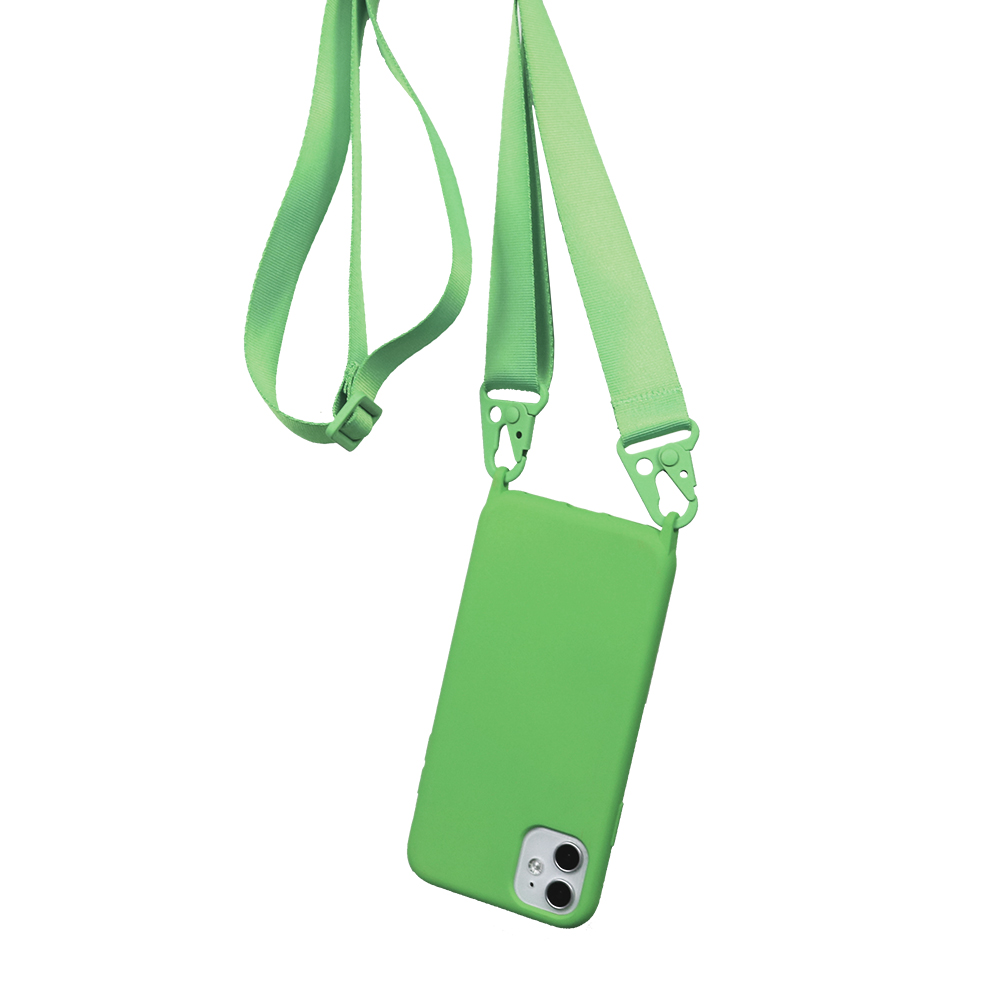 Candy Color Silicone Necklace Strap Band Phone Case For <font><b>iPhone</b></font> SE 11 PRO <font><b>XS</b></font> MAX XR 6 7 8 Plus <font><b>Belt</b></font> Lanyard Crossbody Case Cover image