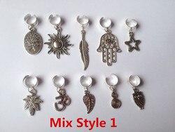 Freies verschiffen 10 teile/paket silber einstellbare haar braid furcht dreadlock perlen clips manschette Charme für Haar Styling Zubehör