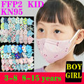 5 Layers KN95 Mask Kid 3-8 8-15 Years Old Cartoons FFP2 Masque Boys Girls Children Mascarillas CE Face Mask Safety Protective