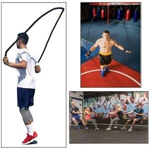 25 мм Фитнес Тяжелая Скакалка для кроссфита утяжеленная битва скакалки силовые тренировки улучшают прочность здания мышцы фитнес 3 м