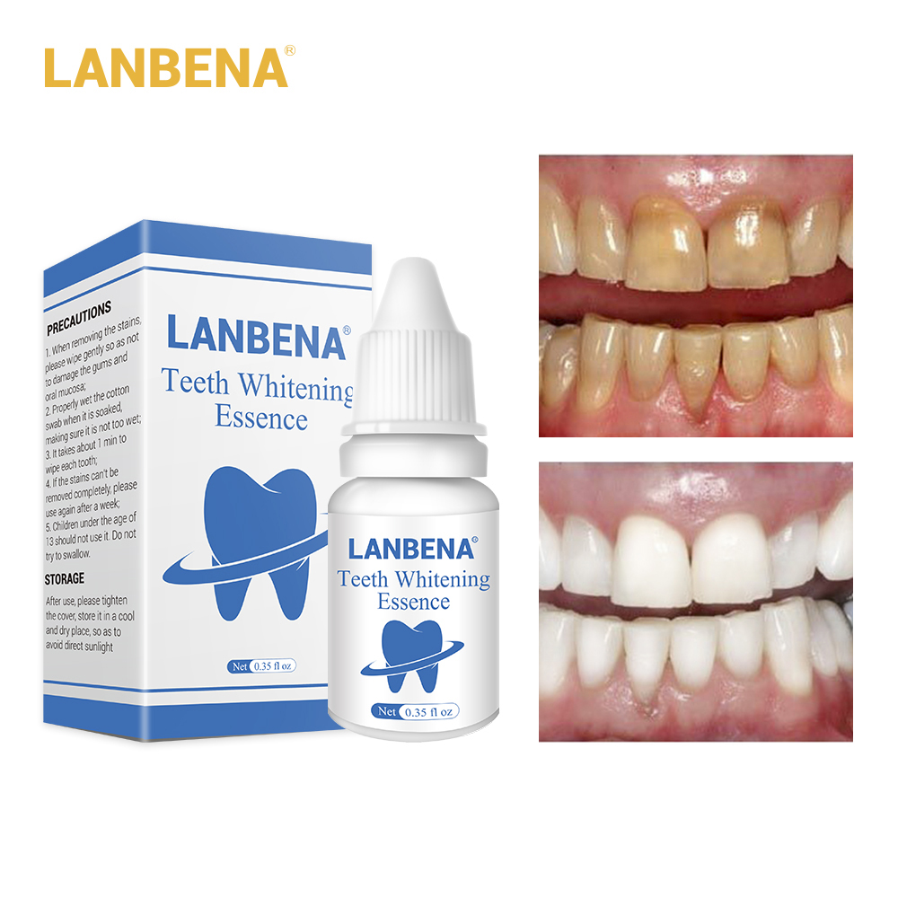 LANBENA Teeth Care Whitening Essence Powder Oral Hygiene Cleaning Serum Removes Plaque Stains Tooth Bleaching Dental Tools
