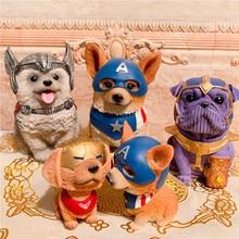 цена на Creative Funny Dog Piggy Bank Marvel Avengers Money Saving Box Coin Box Home Decoration Crafts Birthday Gifts For Kids