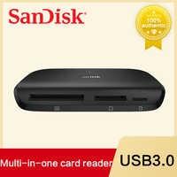 SanDisk Memory  Card Reader USB 3.0 SDDR-489 Imagemate PRO Reader For SD SDHC SDXC microSDHC microSDXC Cards Up To UDMA 7