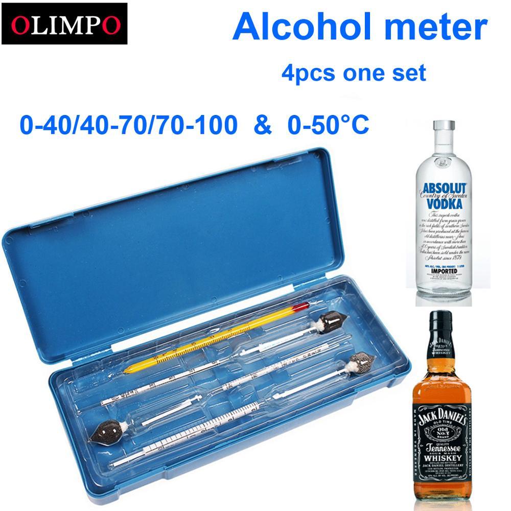 Medidor de álcool 3 pçs/set, instrumento de medição de álcool, medidor de concentração de álcool