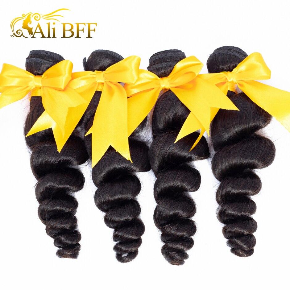 Али BFF волосы бразильские Свободные волны 1 пряди 3 пучка 4 пряди 100% Remy человеческие волосы для наращивания натуральные кудрявые пучки волос ...