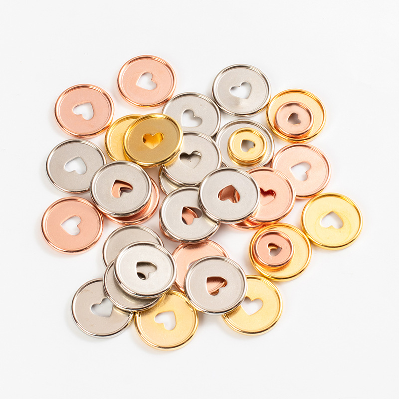 Disques pour reliure en forme de cœur colorés, motif boucles, disques élastiques, champignon, 35MM bricolage pièces