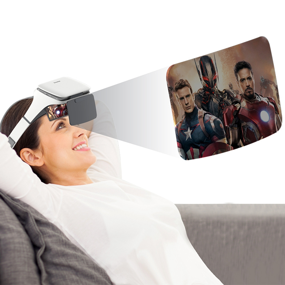 Head-mounted phone holder, universal mobile stand, with 2X magnifier and Refractive lens, free your hands and protect your eyes