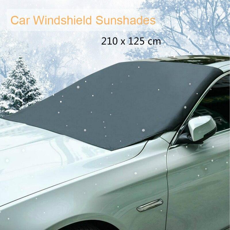 210*125 см автомобильный Магнитный солнцезащитный козырек для лобового стекла автомобиля Снежный солнцезащитный козырек водонепроницаемый защитный чехол для лобового стекла автомобиля - Цвет: 210x125cm