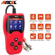 Ancel ba201 analisador rápido do verificador 12v da bateria de carro ferramentas diagnósticas da bateria de carro de manivela 100 2000cca para o teste de carregamento do carro