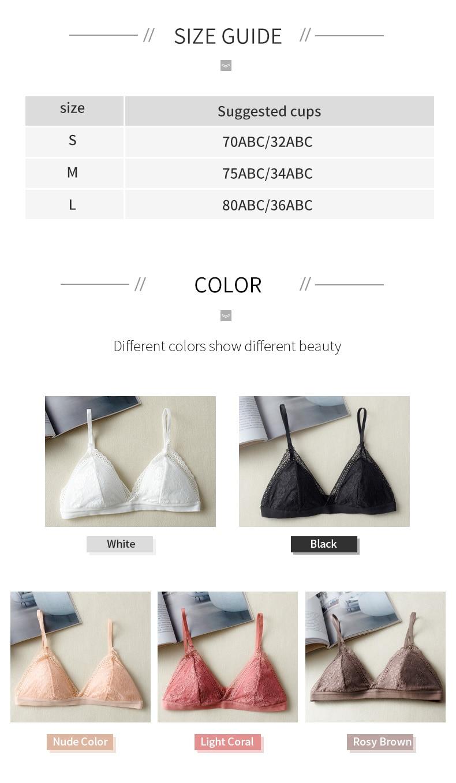 RosyBrown Color Gentle Bralette Series