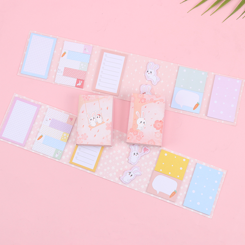 1PC Creative 240 Pages Sticker Mini Animal Sticky Notes Six Folding Memo Pad Gifts School Stationery Supplies