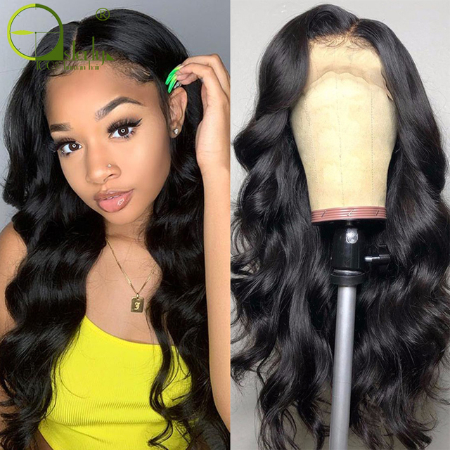 $ US $55.20 Sterly 13x4 Lace Front Human Hair Wigs Pre Plucked Remy Lace Front Wig Brazilian Body Wave Lace Frontal Wig For Black Women