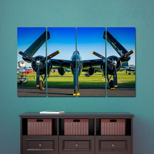 AAHH Large Size Fighter 5 Panel Canvas Painting Dordic Airplane Posters Print on Wall Art Picture for Home Decor No Frame