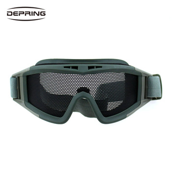 цена на High Quality Hunting Tactical Airsoft Cycling Paintball Climbing Wire Mesh Lens Protector Goggles Eyewear Net Glasses