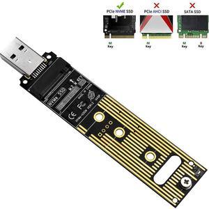 Image 1 - M.2 NVME SSD USB 3.1 어댑터 고속 검색 및 데이터 지원 PCI E USB 유형 A 3.0 내부 변환기 카드