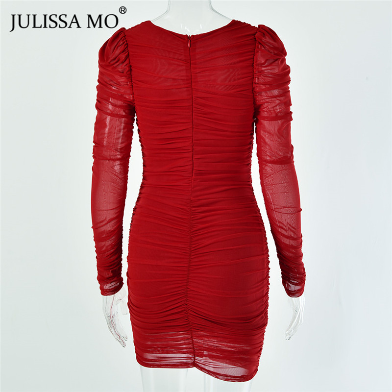 JULISSA MO mesh bodycon dress 2020 spring party dress (2)