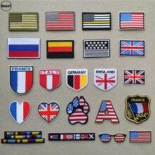 Нашивки с американским флагом для одежды, сделай сам, в полоску, железные Аппликации, термонаклейки для одежды с вышивкой, значки с британским флагом@ D