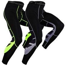 Мужские Компрессионные Леггинсы для фитнеса, спортивные штаны, быстросохнущие обтягивающие брюки для бодибилдинга и тренировок, обтягивающие Мужские штаны для бега