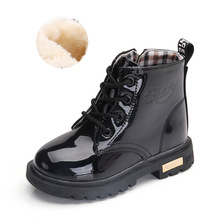1-12 Years Girls Leather Boots Boys Shoes Spring Autumn PU Leather Children Boots Fashion Toddler Kids Boots Warm Winter Boots