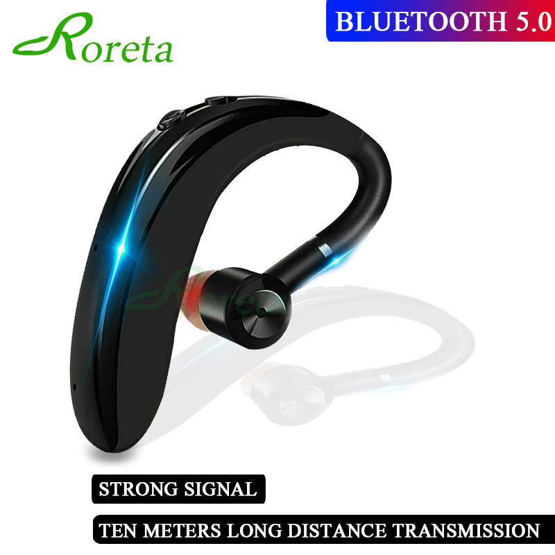 Roreta Bluetooth 5.0 Earphone Wireless Handsfree Ear-hook Earphones Sports Running Gaming Headset With Mic For IPhone Xiaomi