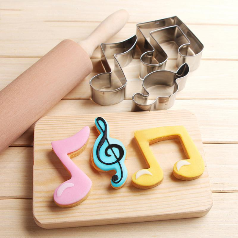 Biscuit-Mould Decorating-Tools Cookie-Cutter Fondant-Mold Music-Note Stainless-Steel title=