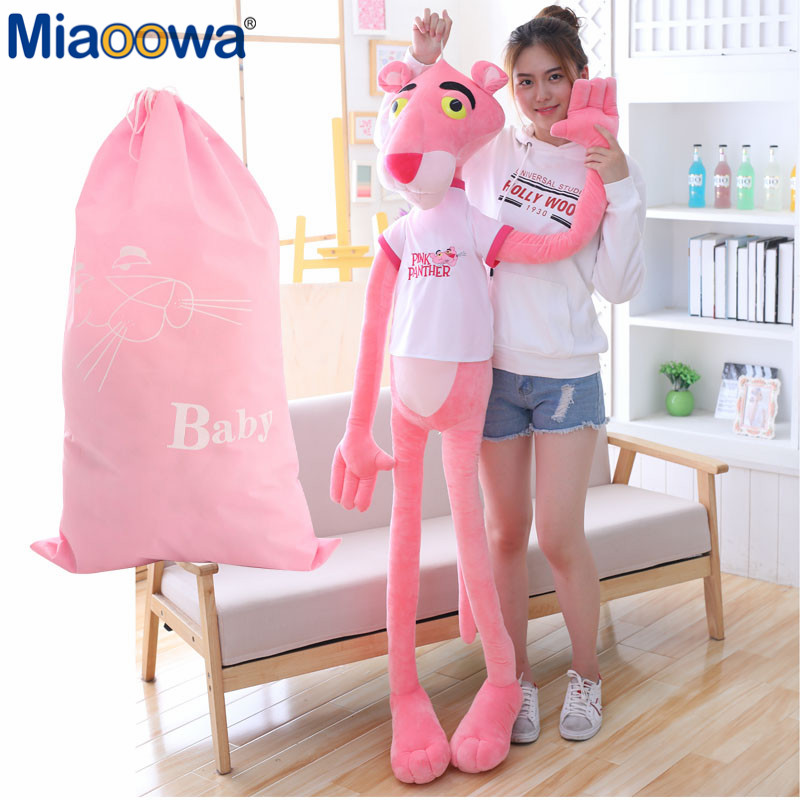 55-145cm High Quality Big Size Baby Toys Plaything Cute Naughty Pink Panther Plush Stuffed Doll Toy Home Decor Girl Kawaii Gift