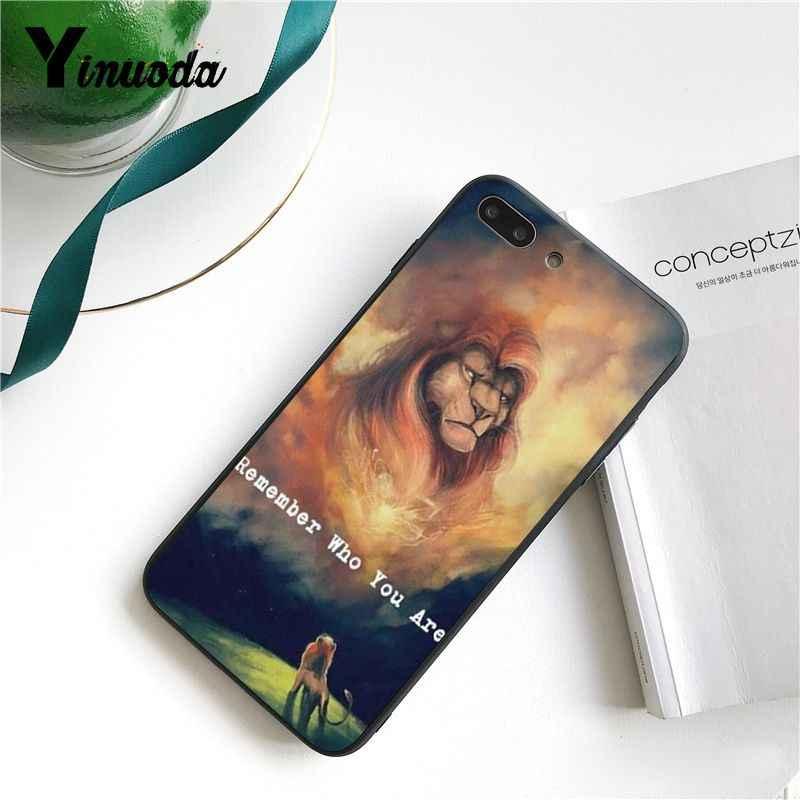 O Rei Leão Simba Yinuoda legal Protetor de Luxo High-end Tampa Da Caixa de Telefone para o iphone 8 7 6 6S X XS MAX 5 5S SE XR 11 Pro Max