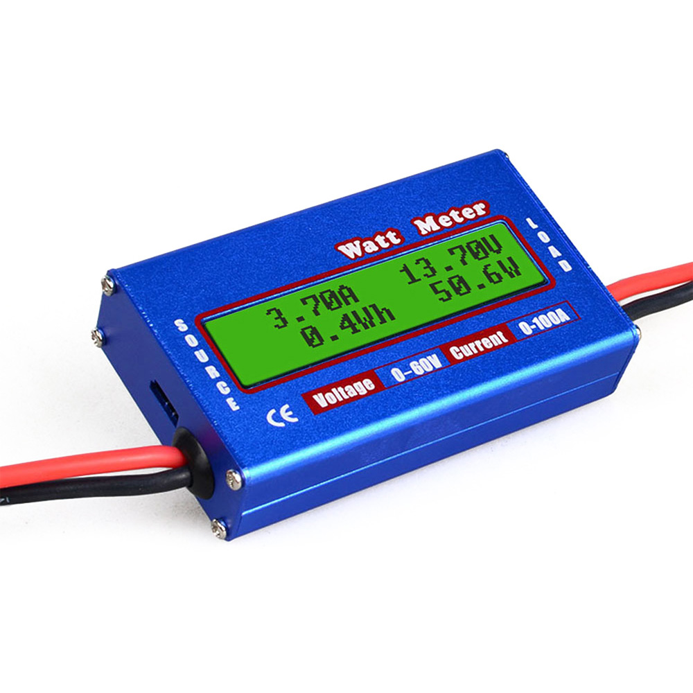 200A High Precision Power Analyzer Watt Meter Battery Consumption Performance Monitor with LCD Backlight for RC Battery Wind Power Solar