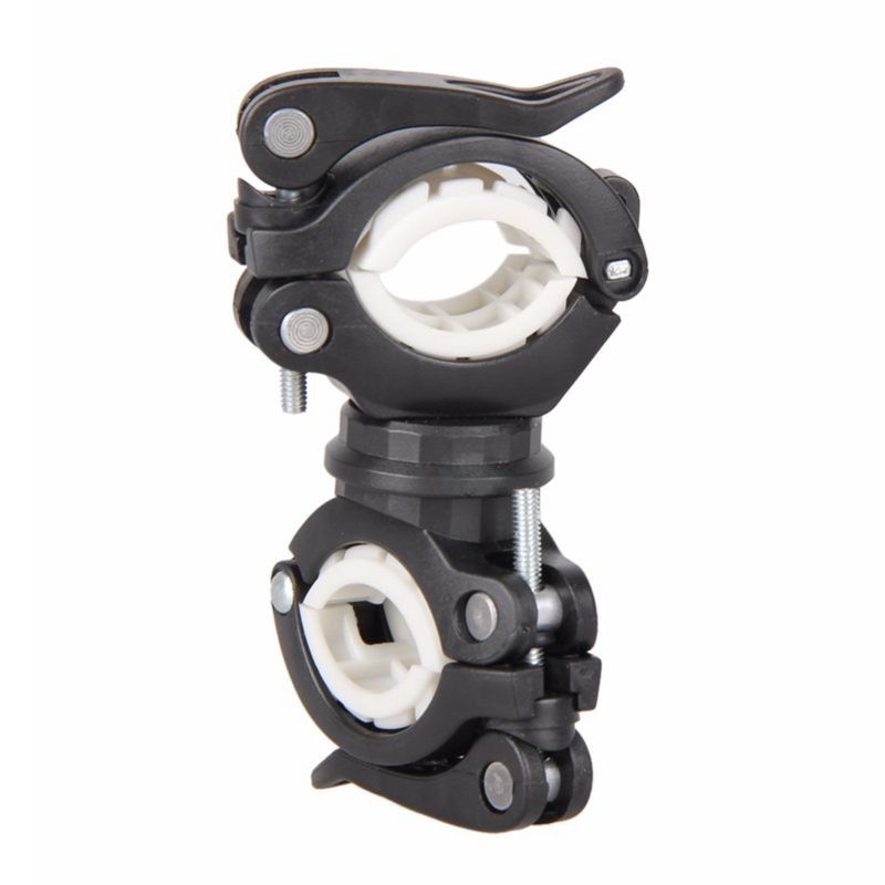 360 Degree Rotating Cycling Bike Light Double Holder LED Front Flashlight Lamp Pump Handlebar Mount Holder Bicycle Accessorie Bl