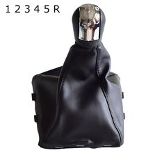 5 6 Speed Chrome Gear Shift Knob Lever Stick Pen Gaiter Boot Cover For Opel Vauxhall Vectra C Vectra B Corsa Astra 2002 2005