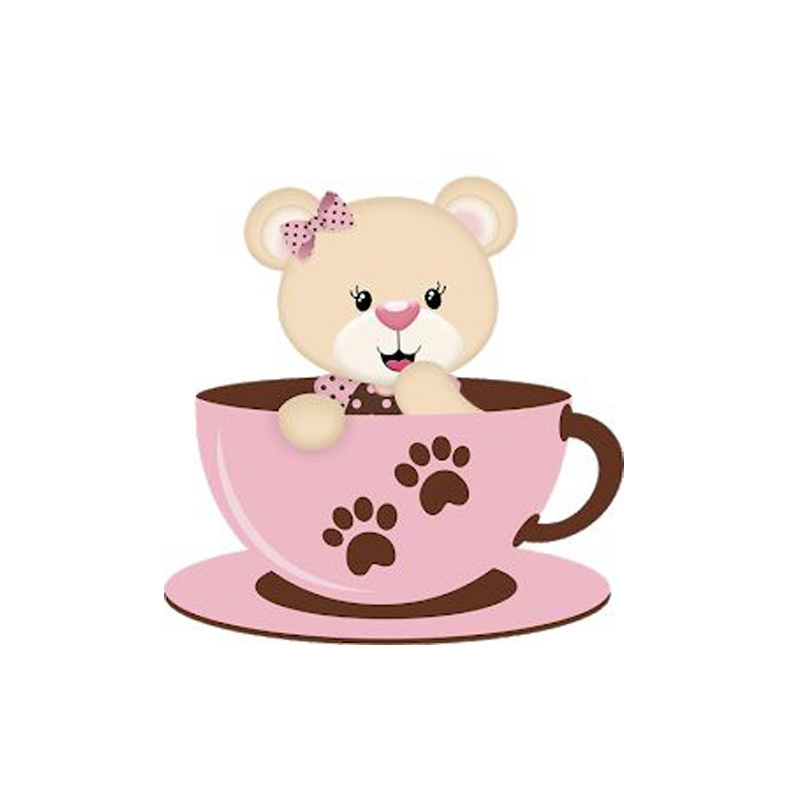 Animal Bear Coffee Teacup Dies Scrapbooking Metal Cutting Embossing Paper Card Craft For Baby Brithday Tag
