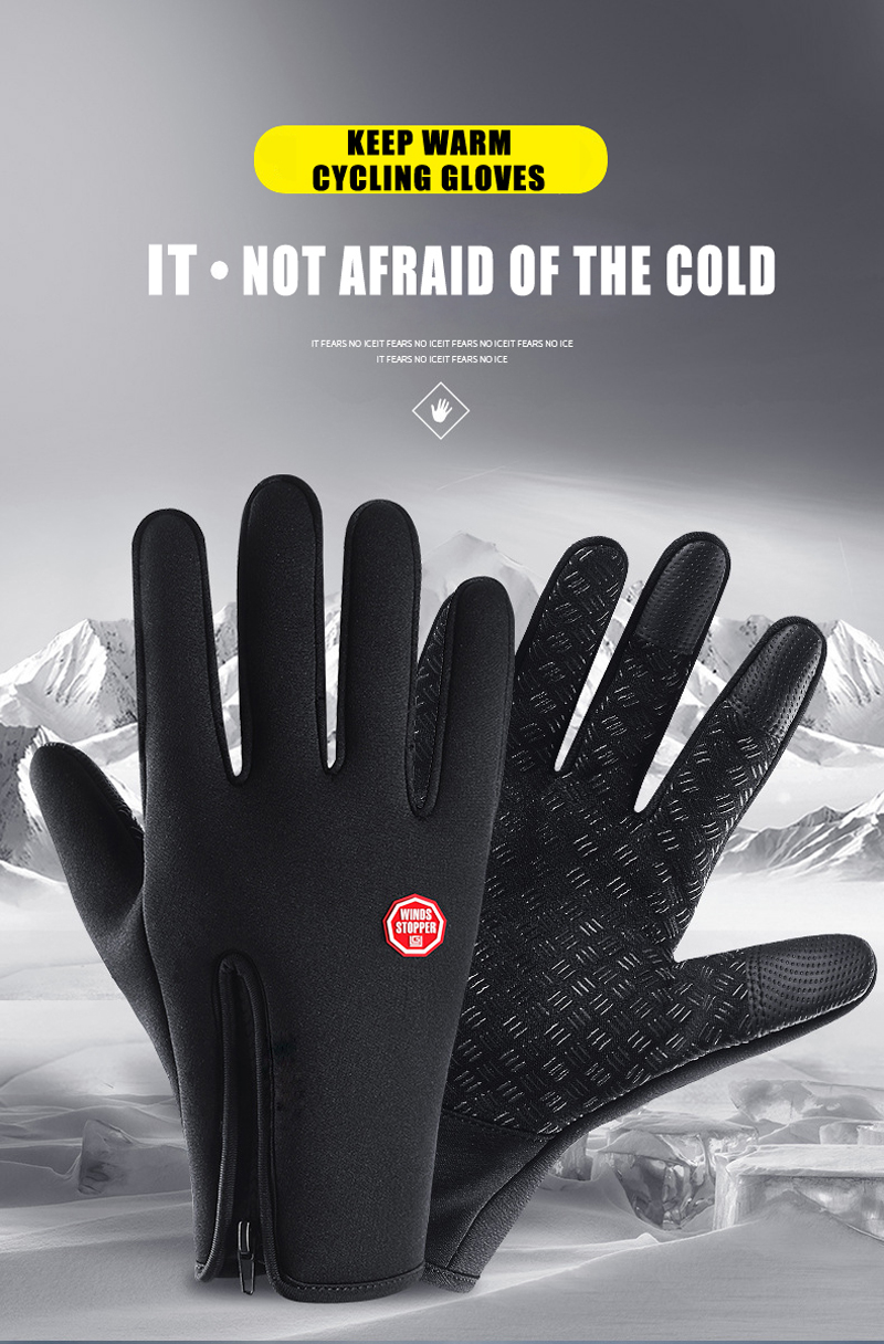 Premium Thermal & Windproof Gloves